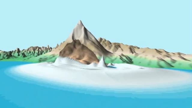Animation des Hangrutsches beim Ätna