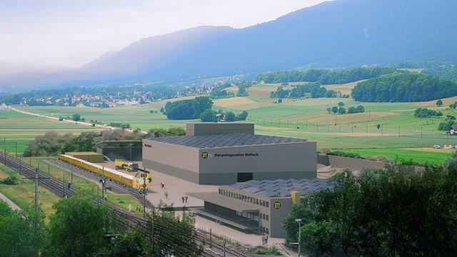 Fotomontage der geplanten Bodenwaschanlage in Bellach