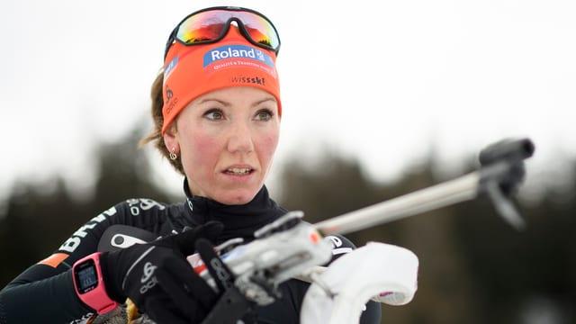 purtret da la biatleta Selina Gasparin