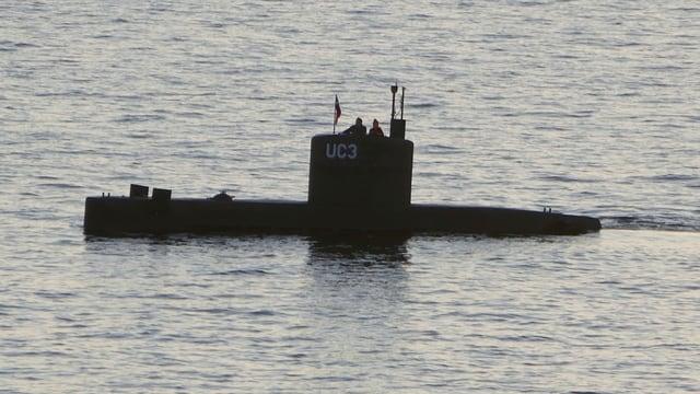 Bild des inzwischen gesunkenen U-Bootes.