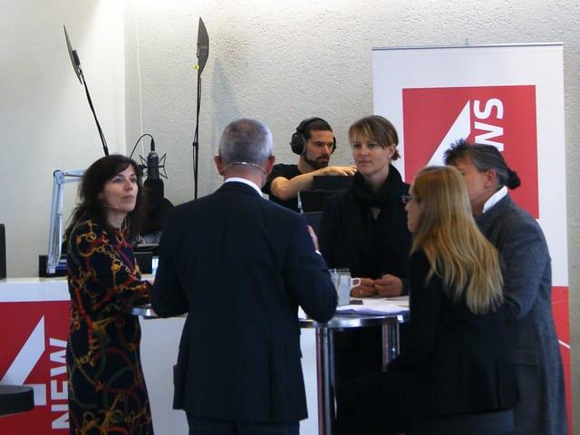 Podiumsdiskussion zum Thema Generation Praktikum an der Universität Basel.