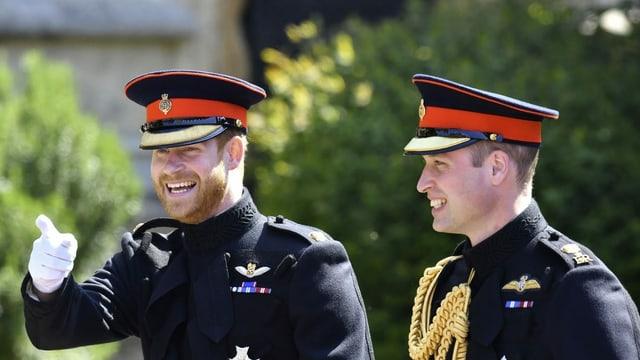 Prinz William (rechts) ist über die Entscheidung seines Bruders Harry traurig.