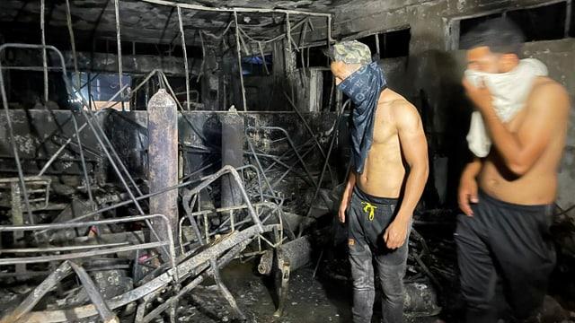 Arbeiter im Spital nach Brandvorfall