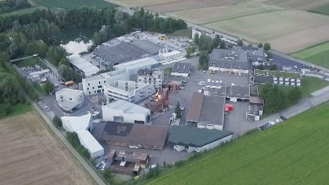 Luftaufnahme des Ausbildungszentrums