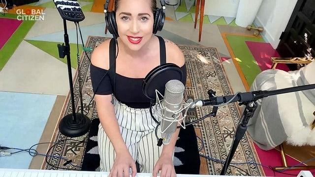 Lady Gaga bei ihrem Auftritt im Rahmen von «One World: Together at Home».
