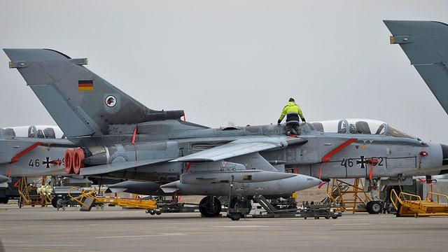 Deutscher Tornado Kampfjet.