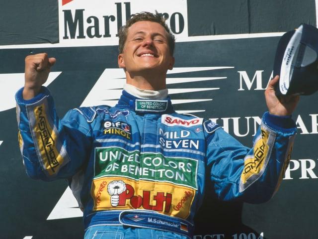 Michael Schumacher auf dem Podest