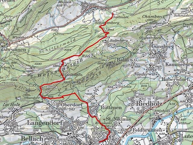 Etappe 6: Welschenrohr – Solothurn