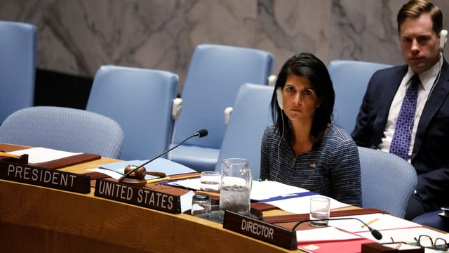 US-UNO-Botschafterin Nikki Haley am 4.4.17.