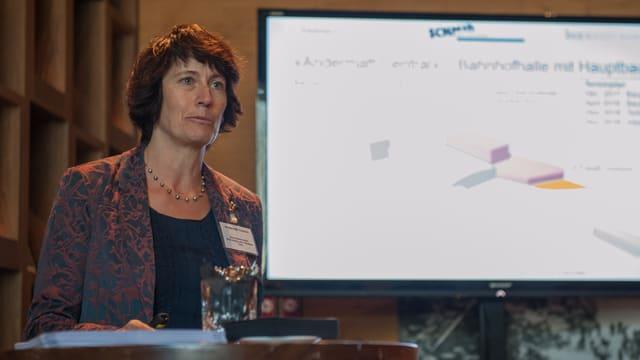 Alice Kalbermatter, presidenta dal cussegl d'administraziun da la Andermatt Central SA.