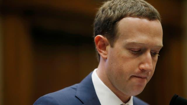 Facebook-CEO Mark Zuckerberg während seiner Befragung vor dem US-Kongress.