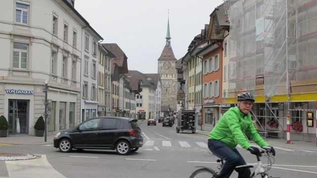 Blick in die Vordere Vorstadt in Aarau