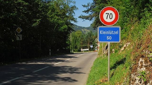 Ortstafel der Gemeinde Kleinlützel