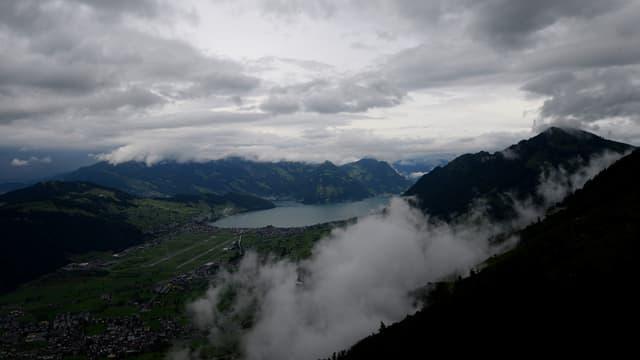Sicht vom Stanserhorn auf den Kanton Nidwalden.