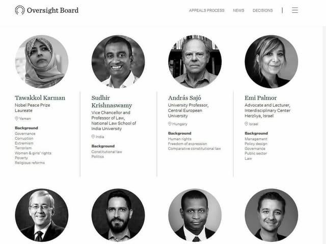 Mitglieder des Oversight Boards
