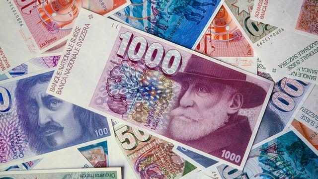 Bancnotas da la seria dal 1976.