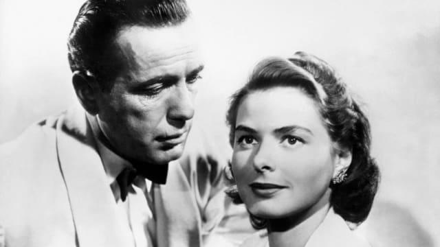 Humphrey Bogart und Ingrid Bergman.