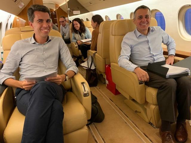 Cassis im Flugzeug