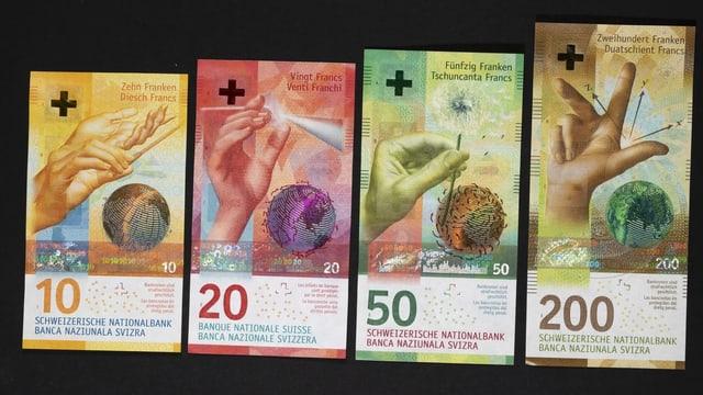 Purtret da la nova seria da bancnotas.
