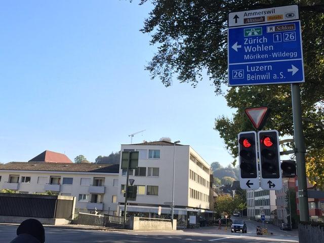 Verkehrsschild in Lenzburg