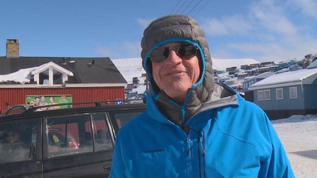 Der Schweizer Klimaforscher Thomas Stocker diesen Sommer auf einer Forschungsreise in Grönland