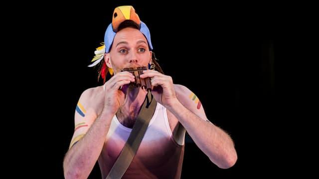 Papageno spielt Flöte