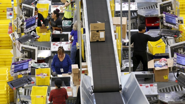 Ein Amazon-Logistikzentrum in den USA.