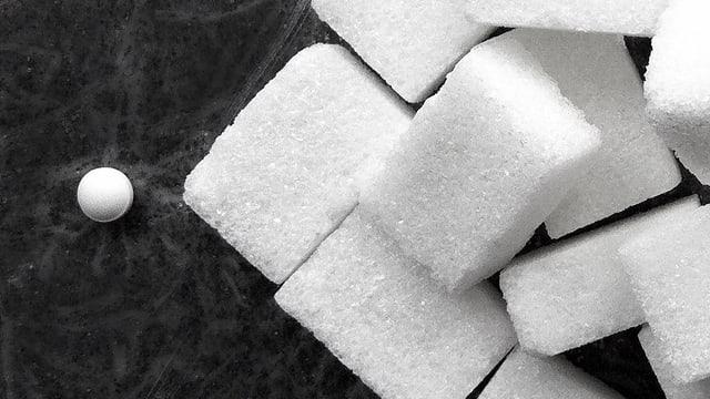 Assugrin mit Zuckerwürfeln