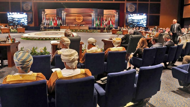 Delegierte im Saal der arabischen Liga