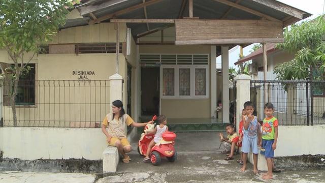 Ein Haus, das in Indonesien mit Schweizer Hilfe erreichtet wurde.