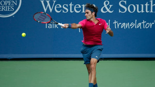 A Cincinnati ha Roger Federer pudì returnar bleras ballas cun success a Novak Djokovic.