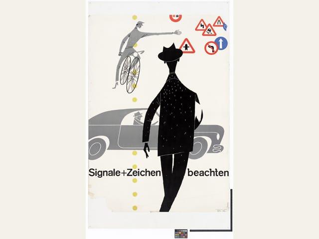 Plakat bfu: Signale und Zeichen beachten