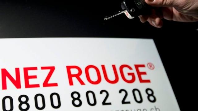 0800 802 208 Die Telefonnummer von Nez Rouge