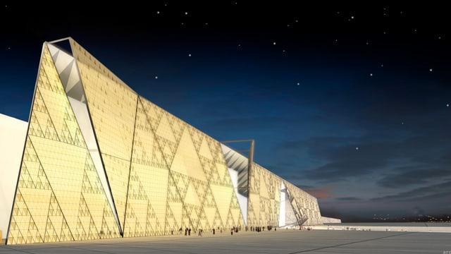 Computeranimation des Grand Egyptain Museum.