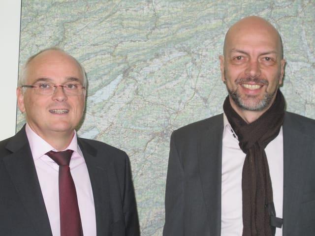 Pierre Alain Schnegg, SVP und Roberto Bernasconi, SP wollen beide in den Regierungsrat