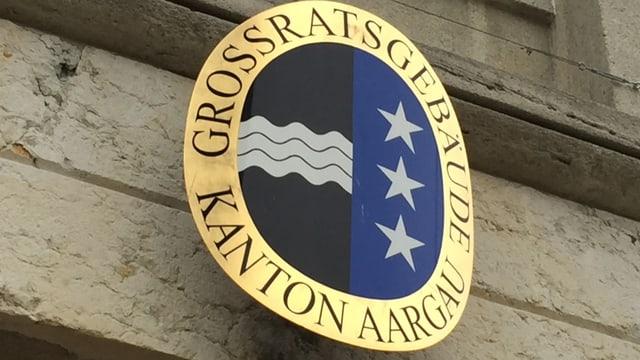 Wappen am Grossratsgebäude in Aarau