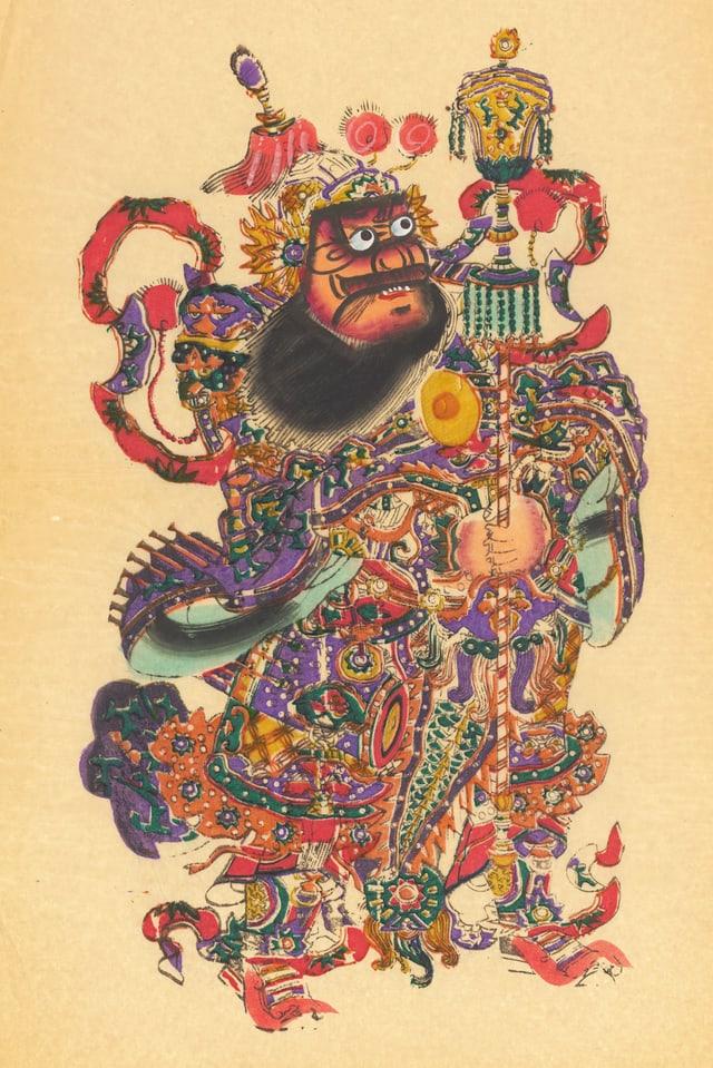Ein farbiger Gott in China