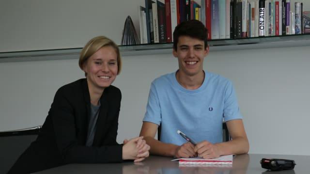 Ladina Heimgartner ed Orlando Cadonau.