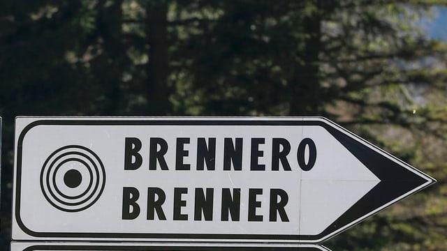 Wegweiser Brenner-Pass.