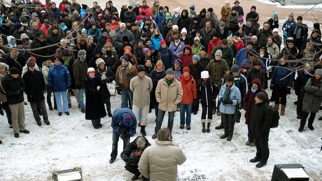 Lehrer-Demo 2012 in Schaffhausen: Ihr Anliegen nach Entlastung wird nun konkreter