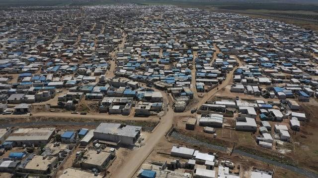 Luftaufnahme eines Flüchtlingscamps in Syrien
