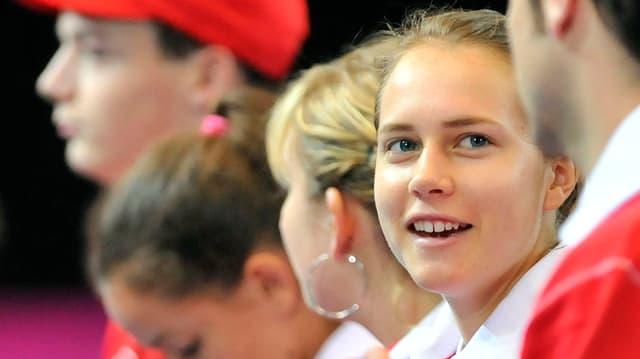Die Schweizerinnen um Stefanie Vögele wollen zurück in die Weltgruppe I.