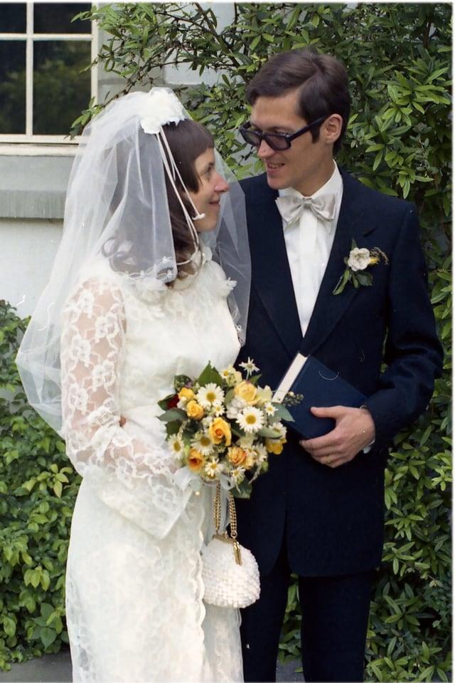 Ein Hochzeitspaar.