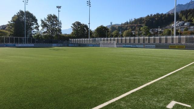 Blick aufs Spielfeld des neuen Stadions Kleinfeld in Kriens.