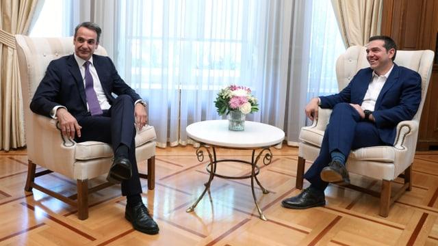 Mitsotakis und Tsipras