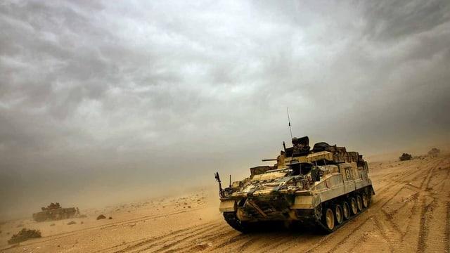 Panzer in der Wüste Iraks.