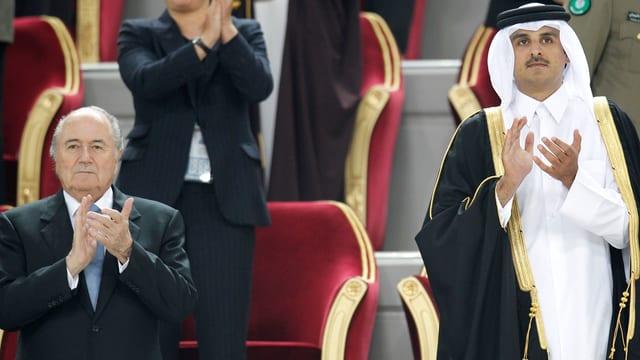 Blatter und der katarische Kronprinz.