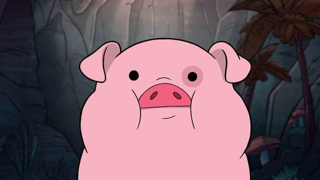 Waddles, das Schweinchen, ist nicht gerade die intelligenteste, wohl aber niedlichste Kreatur.