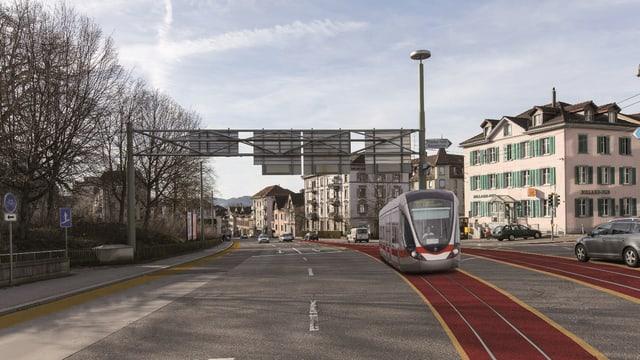 Visualisierung Tram auf Busspur
