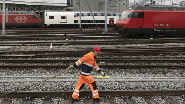 Gleis-Bauarbeiter